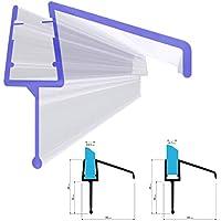 STEIGNER Duschdichtung, 80cm, Glasstärke 3,5/ 4/ 5/ 6/ 7 mm, Gerade PVC Ersatzdichtung für Dusche, UK21