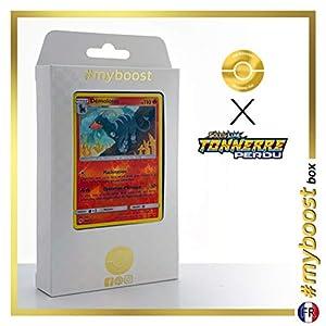 Démolose (Houndoom) 46/214 Holo Reverse - #myboost X Soleil & Lune 8 Tonnerre Perdu - Box de 10 Cartas Pokémon Francés