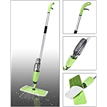 Smile Mom Aluminium Spray Mop Set with Microfiber Washable Pad, Best 360 Degree Easy Floor Cleaning for Home & Office (Green)