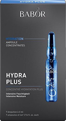 BABOR AMPOULE CONCENTRATES Hydra Plus, Ampullen mit Hyaluronsäure, feuchtigkeitsspendendes Serum, High-Tech Gesichtspflege, für trockene Haut, 7 x 2 ml