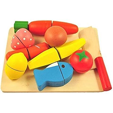 MXtechnic Frutta Verdura Cucina Didattica Giocattolo Per Bambini , Frutta