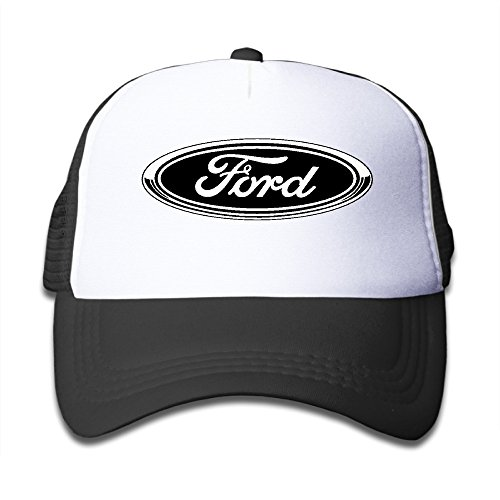 AALEXXJI1 Youth Ford Logo Adjustable Mesh Trucker Caps Hats For Boys & Girls -  Black -