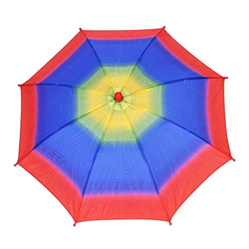 Sombrero de Paraguas Multicolor Sombrero de Sombrilla de Arco Irís al Aire Libre Gorro de Paraguas Sombrero de Sombrilla para la Pesca