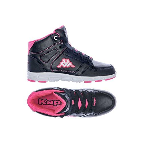 Kappa Unierti 2 Girl Sportive Alte Nuovo Scarpe . Nero/Fuxia