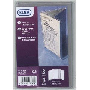 Elba 100202643 Etui de protection pour Carte grise européenne 83 x 127 mm Incolore