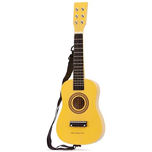 Unbekannt Mein erstes Instrument für Kinder ab 3 Jahren gelbe Gitarre aus hochwertigem Holz • Spielzeuggitarre Musik Ukulele Spielzeug
