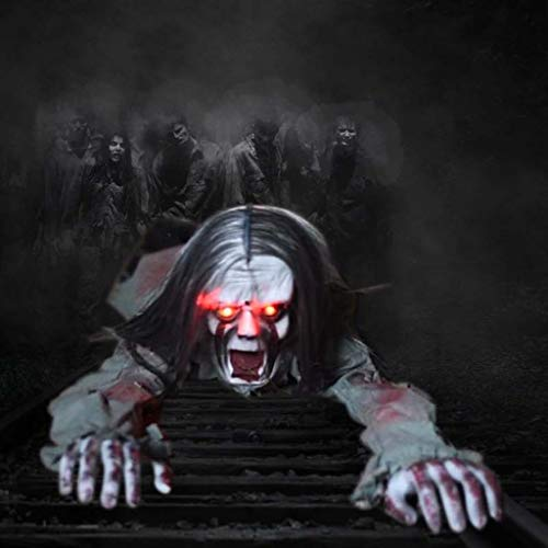 Flucht Halloween Requisiten Gruselige Ghost Horror Dekoration Ghost Sound Sensor Leuchten Augen Requisiten ()