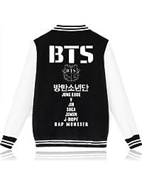 SERAPHY Unisex BTS Sudadera Ropa BTS chaqueta de beisbol para ARMY Suga Jin Jimin Jung Kook J-Hope Rap-Monster V