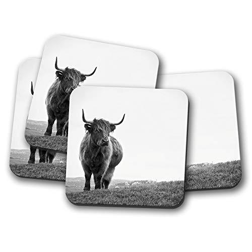 Highland Cow Untersetzer – Cattle Bull Schottland Winter Schottisches Geschenk #14885