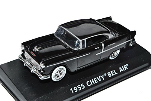 Motormax Chevrolet Chevy Bel Air 1955 Coupe Schwarz 1/43 Modell Auto