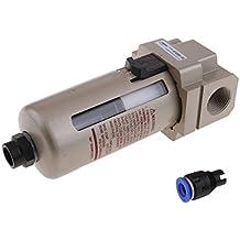 MagiDeal Filtro Neumático de Aire Comprimido Af4000-06d Purgador Automático De 1/4