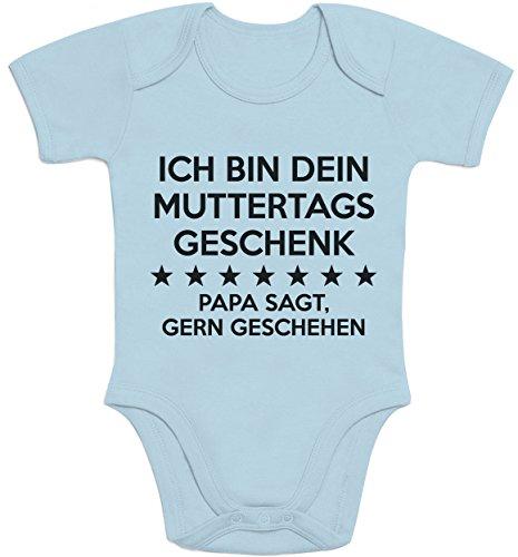 Shirtgeil Ich Bin Dein Muttertagsgeschenk Papa SAGT Gern Geschehen Baby Body Kurzarm-Body 12-18 Months Hellblau