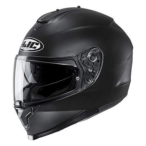 Preisvergleich Produktbild Hjc Matt Schwarz C70 Logo Motorradhelm (Medium,  Schwarz)