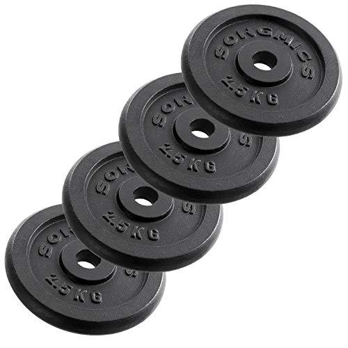 Songmics Hantelscheiben Gewichte Set aus Gusseisen 4 x 2,5 kg SYL01T