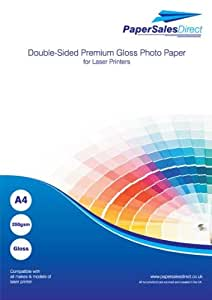 A4 Double Sided Laser Premium Gloss Photo Card 250gsm 100 Sheets