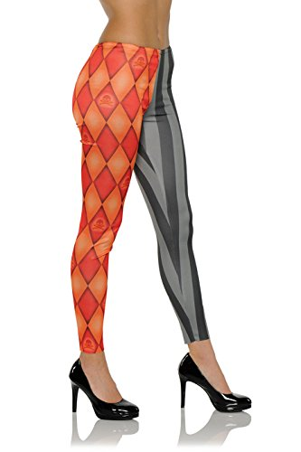 ack Jester Clown Adult Womens Halloween Leggings-S/M Small/Medium ()