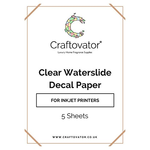 Clear INKJET Waterslide Decal Paper (5 of them)  | A4 Transfer Sheets