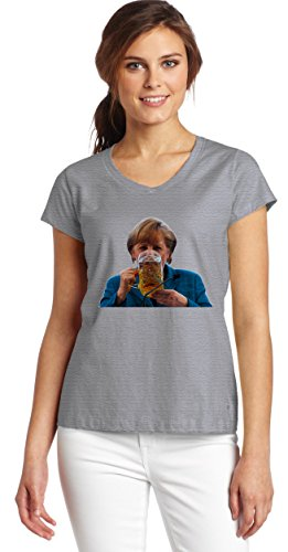 merkel-having-a-beer-t-shirt-womens-v-neck-t-shirt-xx-large