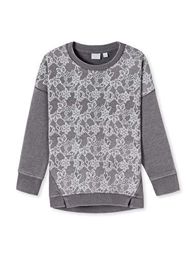 Schiesser Mädchen Just Love Sweatshirt Grau 200, 92 (Herstellergröße: 092)
