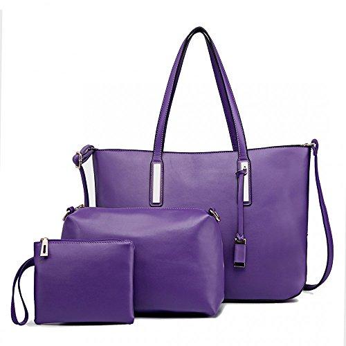 Miss Lulu - Sacchetto Bambina Donna Purple (3-IN-1)