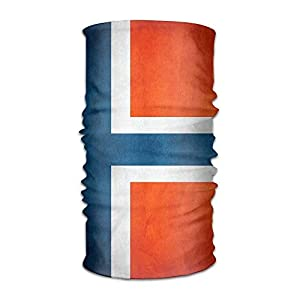 RGFJJE Sturmhauben Headband Face Sun Wind Mask – Vintage Norway Norge Flag Magic Scarf Bandana Balaclava Headwear for Outdoors