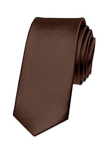 Slim-krawatte (Autiga Krawatte Herren Hochzeit Konfirmation Slim Tie Retro Business Schlips schmal, Braun, unisize)