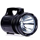 YOMER Super Bright LED Rechargeable Searchlight Lampe de poche portative Torche Camping Lantern Spotlight 15000MA Power Bank Tente extérieure Emergency (BLACK)
