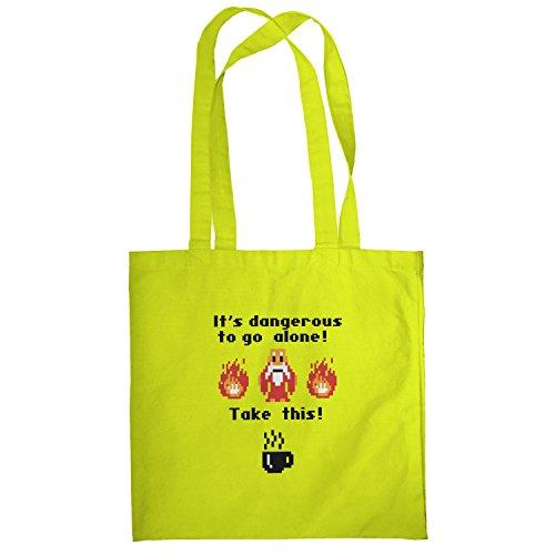 Texlab–Take this Coffee–sacchetto di stoffa Gelb