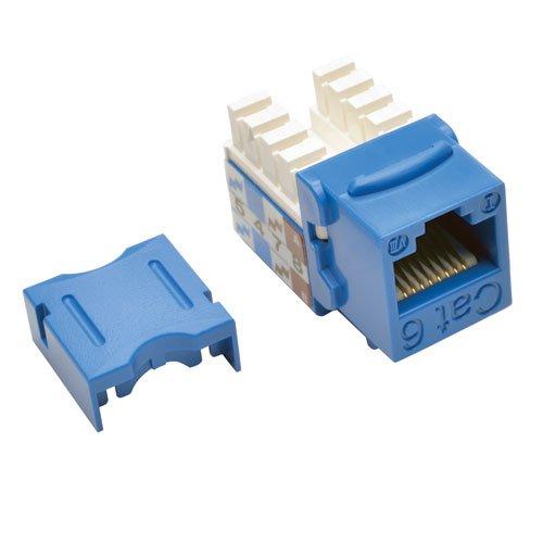 Tripp Lite CAT6CAT5e 110Stil Punch Down Keystone Jack, blau, 25er Pack (N238-025-bl) - Cat5e Keystone Jack Blau
