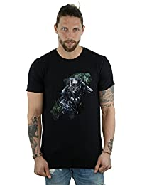 Absolute Cult Marvel Hombre Black Panther Wild Silhouette Camiseta