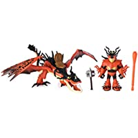 Dragons 6046907 DreamWorks, Hookfang and Snotlout, Armored Viking Figure, for Kids Aged 4 and Up
