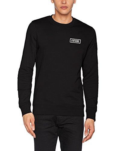 JACK & JONES Herren Sweatshirt Jcoleonard Sweat Crew Neck Schwarz (Black Fit:Reg)