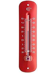 TFA 12.2051.05–Thermometer für Innen und Außen, rot, metallisiert