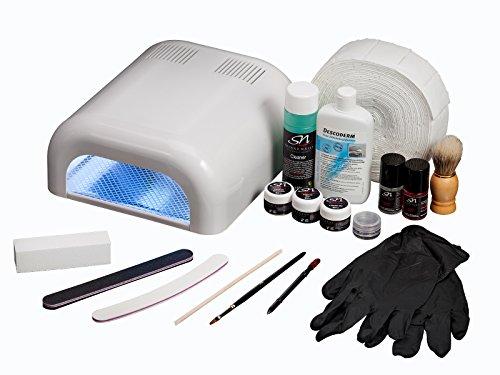 #SN Nageldesign Nagelstudioset Naturnagelverstärkung UV Gel Gelnägel Nagelstudio Set Starterset XL A1#