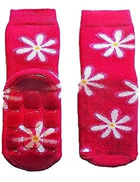 Weri Spezials Baby- und Kinder Voll-ABS Socken 'Lustige Blumen'