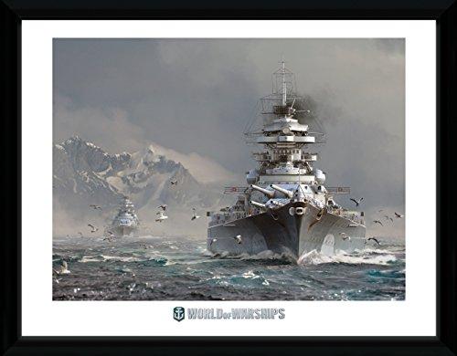 GB Eye Ltd World of Kriegsschiffe, Bismark Kunstdruck, gerahmt, 30x 40cm, Verschiedene