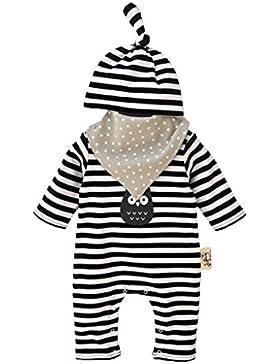 Vine Neugeborenes Baby 3 Pcs Strampler Spielanzug Baumwolle Langarm Baby Outfits Unisex Kleinkinder Streifen Jumpsuits...