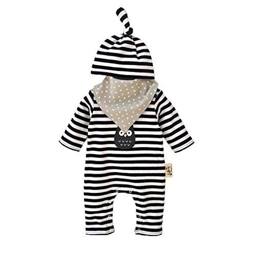 Vine mameluco recién nacidos bebes ropa para bebés nacido Romper ropa muñeca largos ropa de niño de la manga & Sombrero & baberos negro