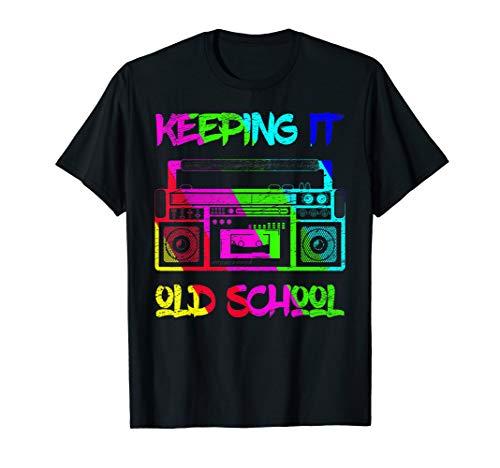 80er Jahre Party Hip Hop Rap T Shirt - Keeping It Old School (Old School Rap Kostüme)