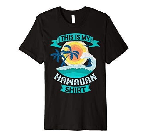 This is My Hawaiian Shirt Vintage Funny Hawaii T Shirt (Button-up-hawaiian-t-shirt)