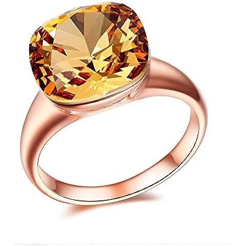 Atistic 2Tone Big strass castone 12mm purezza promessa anello, misura K a S