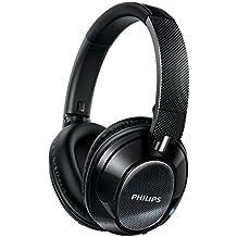 Philips SHB9850NC/00 - Auriculares inalámbricos con reducción de ruido (supraaural, almohadillas suaves, plegado compacto), negro