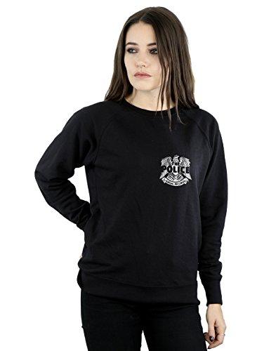 Absolute Cult The Police Damen Illegal Records Eagle Pocket Sweatshirt Schwarz X-Large (Pullover Eagles Frauen)