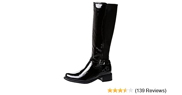53f9b58e7d8 R1Y Womens Ladies Extra Wide Calf (Max Fit 49cm for Size 2 and 56cm for  Size 10) Riding Zip Up Elasticated Under Knee Boots