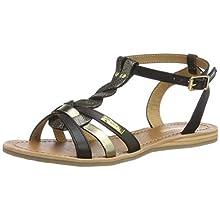 Les Tropéziennes par M. Belarbi Women's Hams Ankle Strap Sandals, Black (Noir/Multi 607), 4 UK