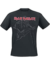 Iron Maiden Eddie Bass Camiseta Negro
