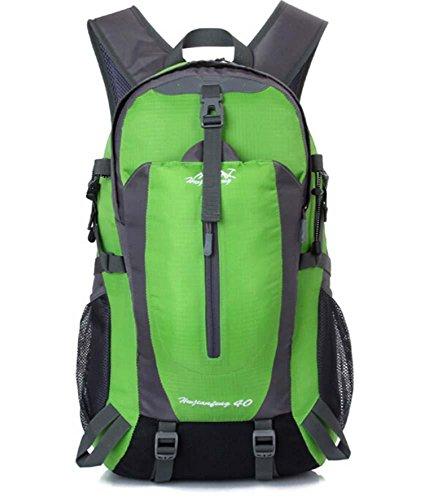 ShangYi Sport viaggi zaino outdoor trekking zaino campeggio ciclismo impermeabile sport borse per uomini e donne 40L , Black Green