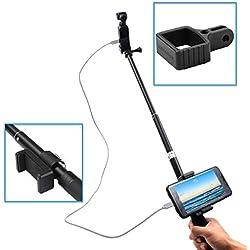 O'woda Bâton Selfie Extensible Évolutif Tige de Monopode en Aluminium avec Support pour téléphone portablepour DJI OSMO Pocket