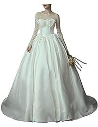 Vestido de novia Manga pequeña sin Tirantes sin Tirantes de Las Mujeres Ailin Home (Color