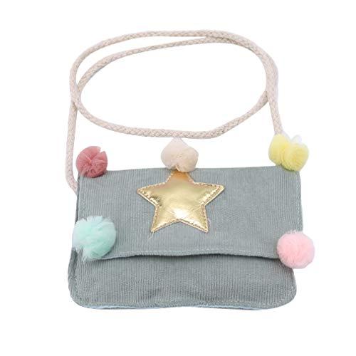 Yinew Kinder Sterne Ball Tasche Messenger Bags Stern Umhängetasche Kinder Plüsch Ball Crossbody Tasche Mädchen, Rosa Blau